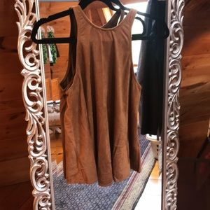 Lucy Love Suede Tank Top